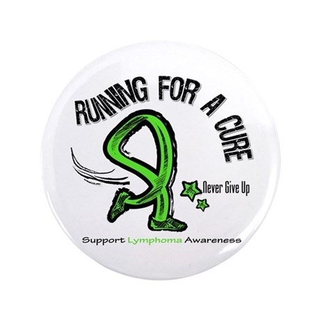 "Running For Cure Lymphoma 3.5"" Button (100 pack)"