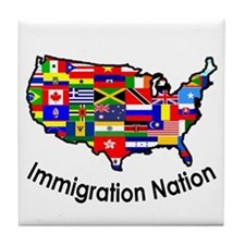 USA: Immigration Nation Tile Coaster