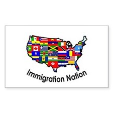 USA: Immigration Nation Rectangle Decal