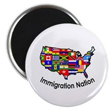 "USA: Immigration Nation 2.25"" Magnet (10 pack)"