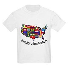 USA: Immigration Nation Kids T-Shirt