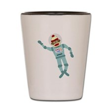 Sock Monkey Astronaut Shot Glass