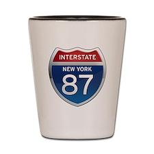 Interstate 87 - New York Shot Glass