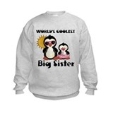 Coolest big sister penguin Sweatshirt
