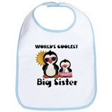 Coolest big sister penguin Bib