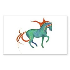 mosaic horse Rectangle Decal