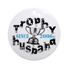 Trophy Husband Year & Name Ornament (Round)