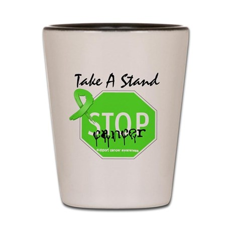 Take a Stand Lymphoma Shot Glass