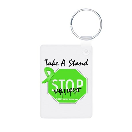 Take a Stand Lymphoma Aluminum Photo Keychain