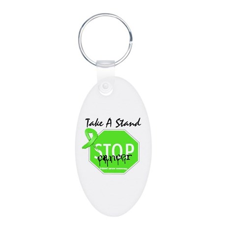 Take a Stand Lymphoma Aluminum Oval Keychain