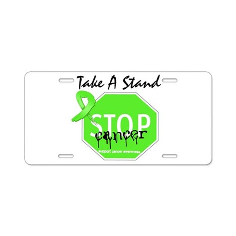 Take a Stand Lymphoma Aluminum License Plate