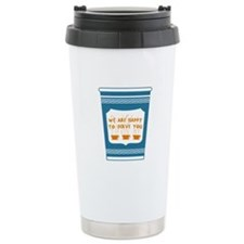 "NYC ""Blue Cup"" Ceramic Travel Mug"