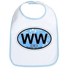 Wildwood NJ - Oval Design Bib