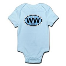 Wildwood NJ - Oval Design Infant Bodysuit