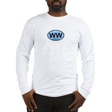 Wildwood NJ - Oval Design Long Sleeve T-Shirt