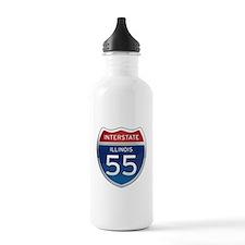 Interstate 55 - Illinois Water Bottle