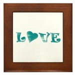 Love Framed Tile
