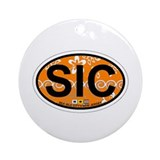 Sea Isle City - Oval Design Ornament (Round)