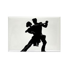 Unique Ballroom dancing Rectangle Magnet (10 pack)