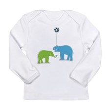 Whimsy Elephants Long Sleeve Infant T-Shirt