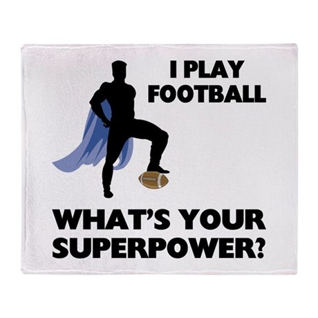 Football Superhero Throw Blanket