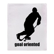 Goal Oriented Hockey Throw Blanket