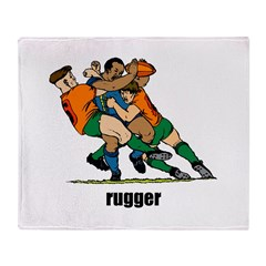 Rugger Rugby Throw Blanket