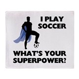 Soccer Superhero Throw Blanket