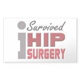 Hip Surgery Survivor Decal