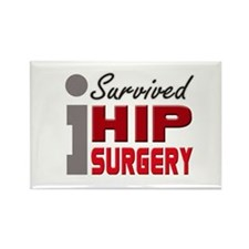 Hip Surgery Survivor Rectangle Magnet