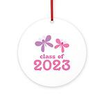 2023 Girls Graduation Ornament (Round)