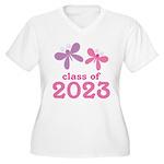 2023 Girls Graduation Women's Plus Size V-Neck T-S