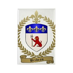 BRIDEAU Family Crest Rectangle Magnet (100 pack)