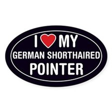 LoveMy German Shorthair Pointer Oval Sticker/Decal
