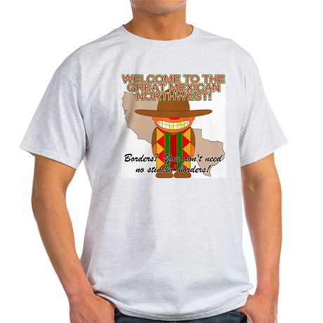 Mexican Illegal Alien Ash Grey T-Shirt