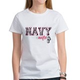 Navy Wife (zebra print) Tee