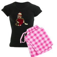 Sock Monkey Heart Pajamas