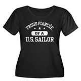 Proud Fiancee of a US Sailor Women's Plus Size Sco