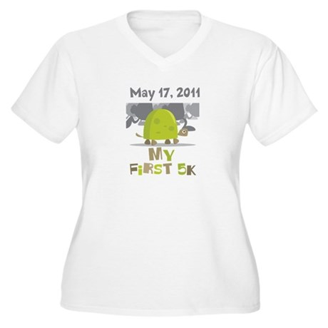Personalized My First 5K Women's Plus Size V-Neck