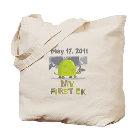Personalized My First 5K Tote Bag