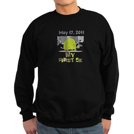 Personalized My First 5K Sweatshirt (dark)