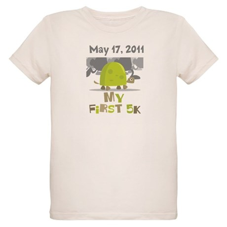 Personalized My First 5K Organic Kids T-Shirt