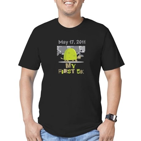 Personalized My First 5K Men's Fitted T-Shirt (dar