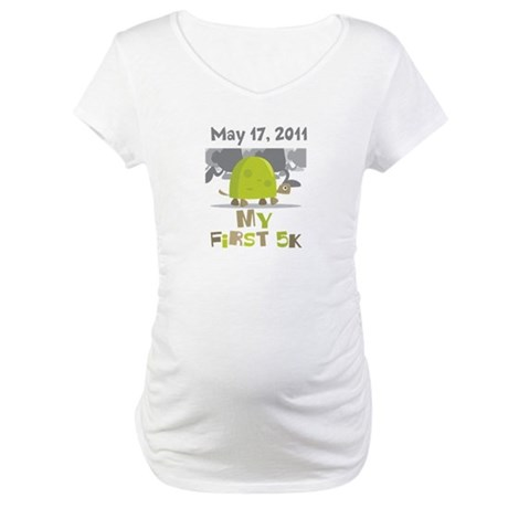 Personalized My First 5K Maternity T-Shirt