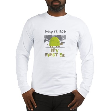 Personalized My First 5K Long Sleeve T-Shirt
