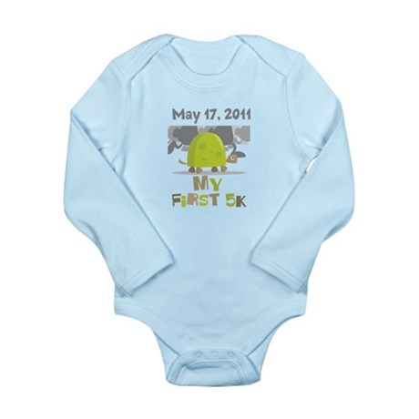 Personalized My First 5K Long Sleeve Infant Bodysu