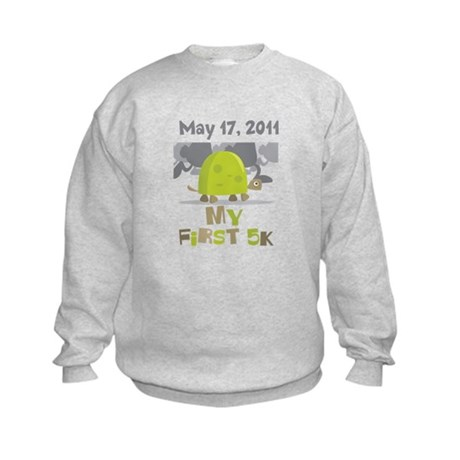 Personalized My First 5K Kids Sweatshirt