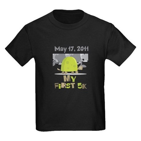 Personalized My First 5K Kids Dark T-Shirt