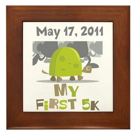 Personalized My First 5K Framed Tile