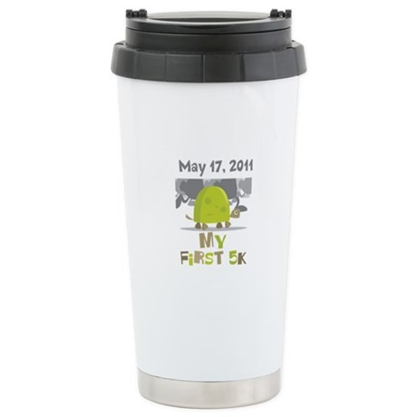 Personalized My First 5K Ceramic Travel Mug